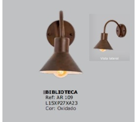 ARANDELA BIBLIOTECA FOCO METALLO AR109