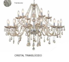 LUSTRE TRANSLÚCIDO 18L VIVENDI VIV1012-18